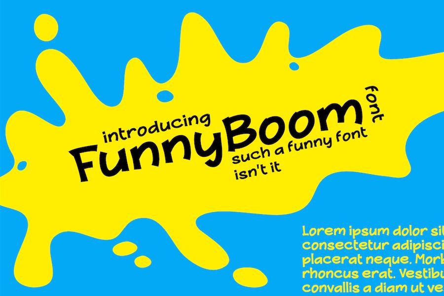 FunnyBoom font, such a funny font.