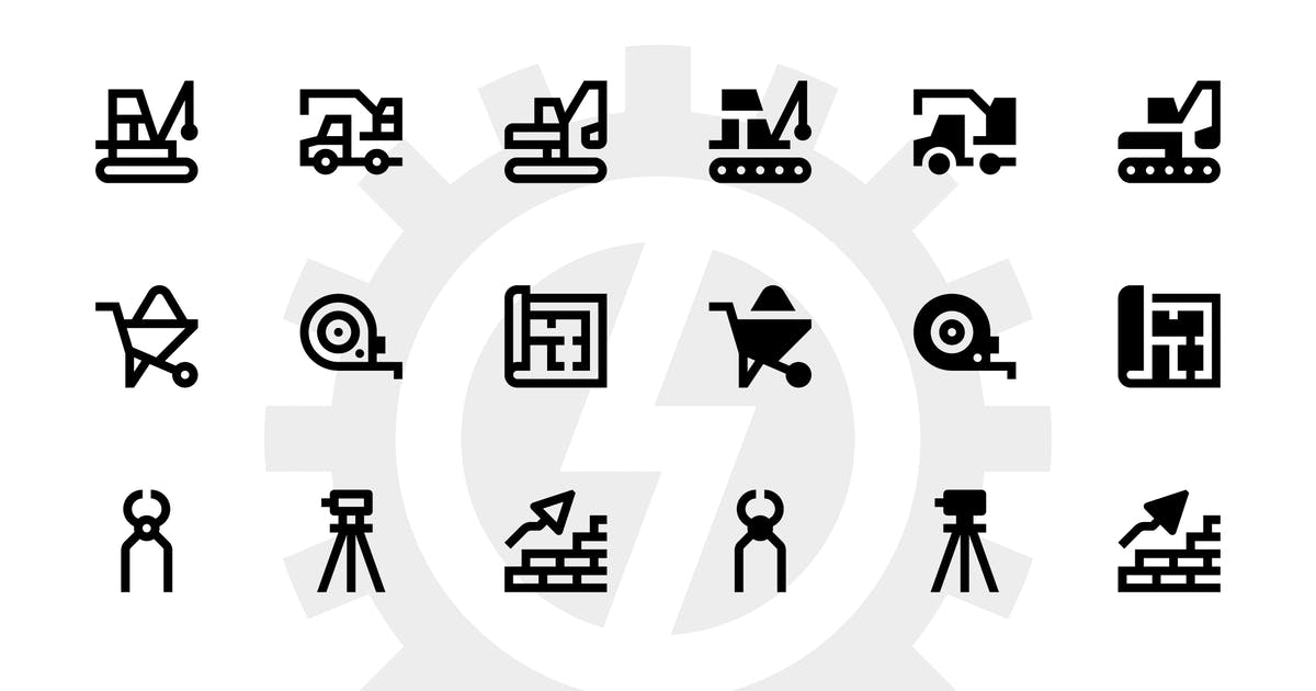 Construction icons by polshindanil