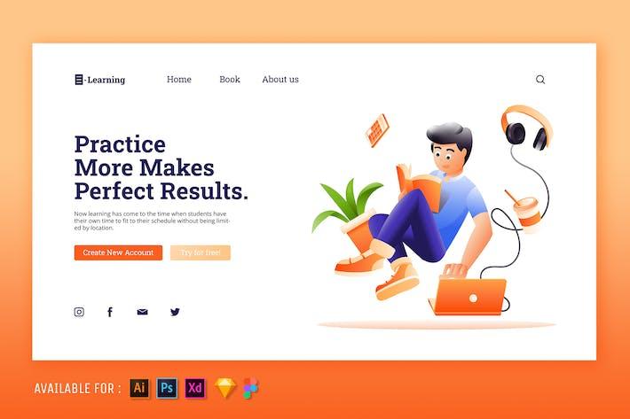 Thumbnail for E-Learning - Web Illustration