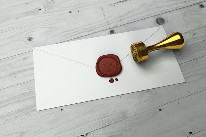 Thumbnail for Stamp Logo Mockup 002