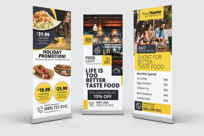 Thumbnail for Restaurant Roll-Up Banner