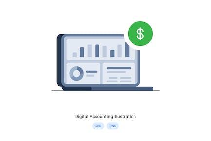 Digital Accounting Illustration