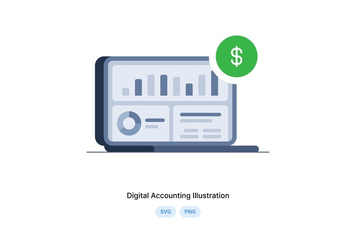 Digital Accounting Illustration