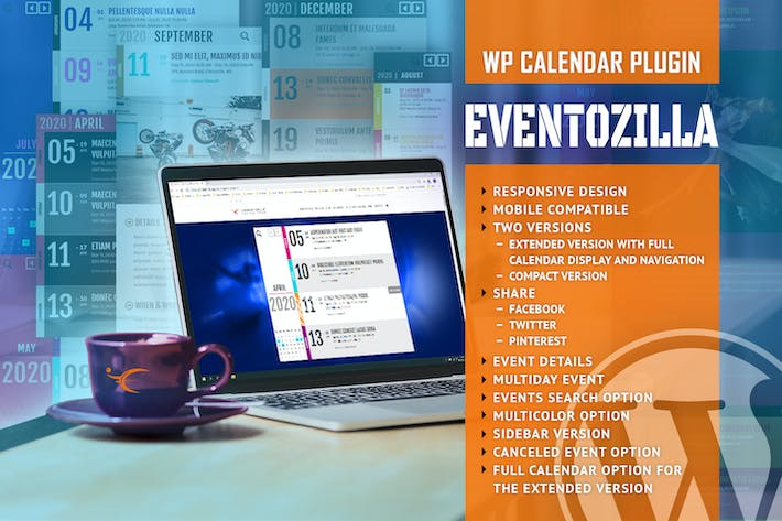 Thumbnail for EventoZilla - Event Calendar WordPress Plugin