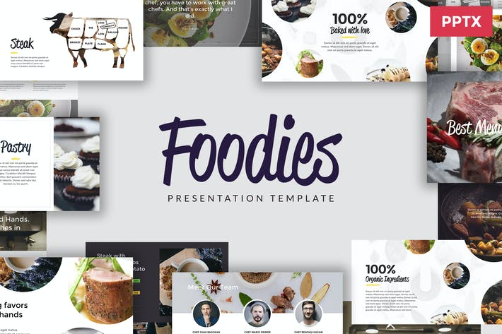 Thumbnail for FOODIES - Culinary Powerpoint Template