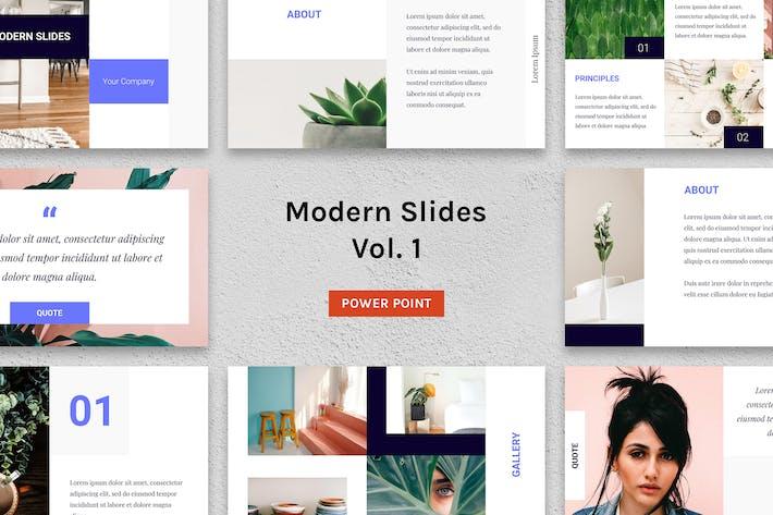 Thumbnail for Modern Slides (Vol.1) – Powerpoint Template