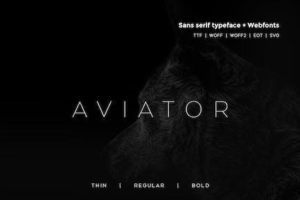 Aviator - Modern Typeface + WebFont