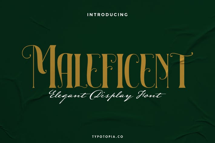 Maleficent The Elegant Display Font