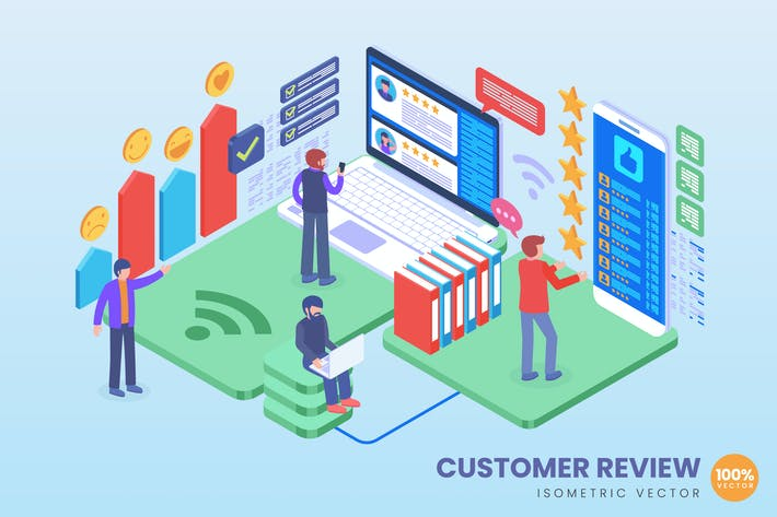 Thumbnail for Isometric Customer Review Concept