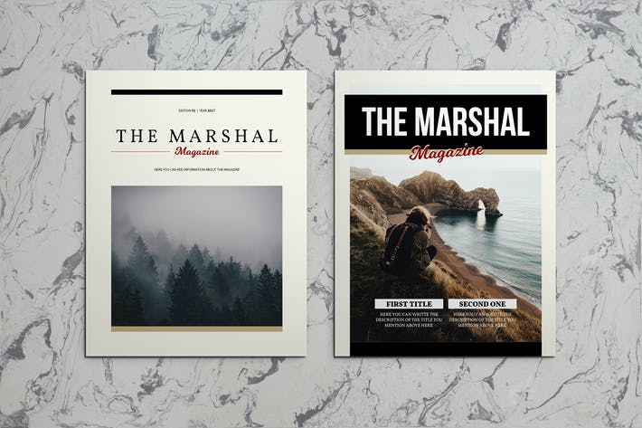 Thumbnail for The Marshal Indesign Magazine Template