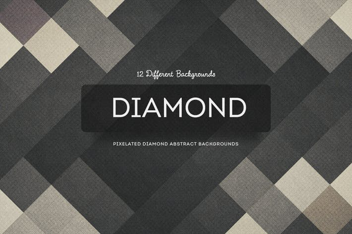 Pixelated Diamond Abstract Backgrounds