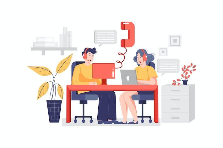 Thumbnail for Mobiltelefondienstkonzept Illustration