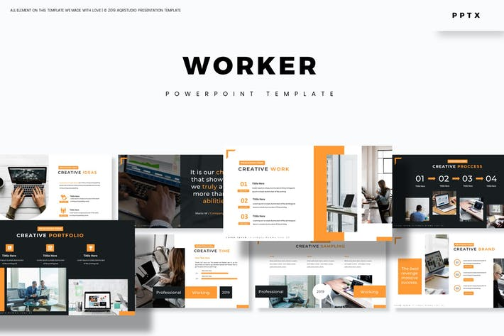 Worker - Powerpoint Template