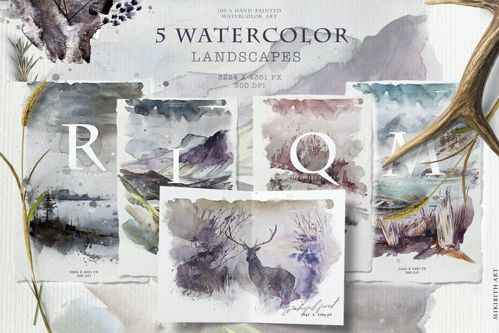 Thumbnail for Landscapes watercolor