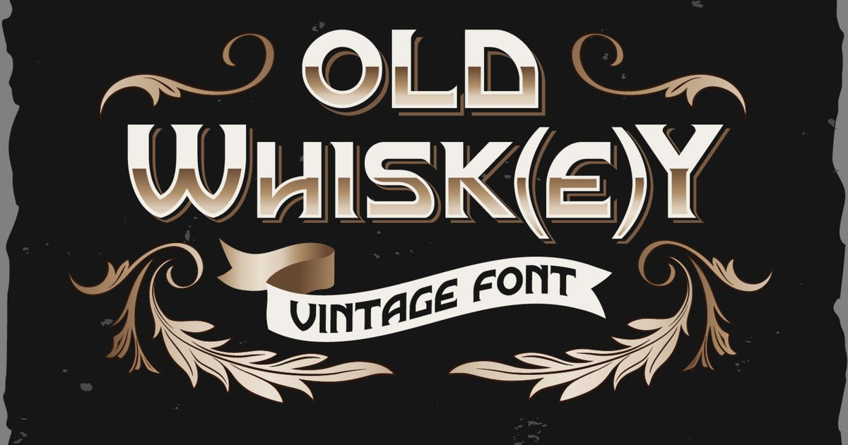 Download Old Whisk(e)y typeface by Fractal86
