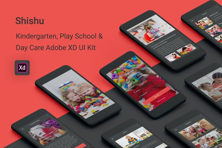Thumbnail for Shishu - Kindergarten & Play School Adobe XD App