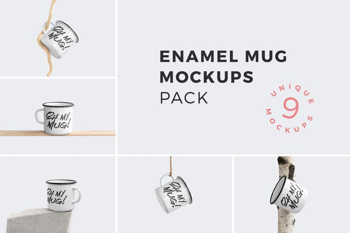 Thumbnail for Enamel Mug Mockups Pack