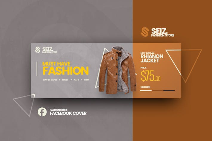 Thumbnail for Seiz Fashion Facebook Cover Template