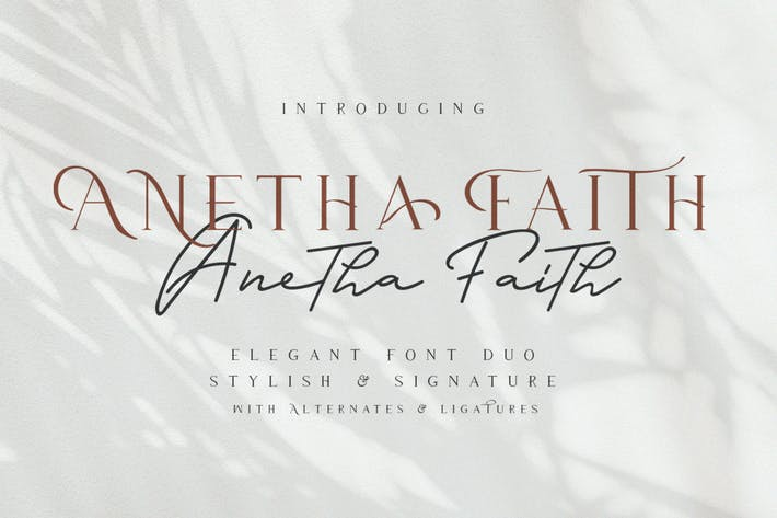 Thumbnail for Anetha Faith Typeface