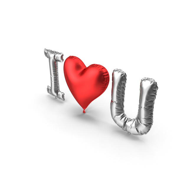 Thumbnail for I love You from Silver and Red Balloons