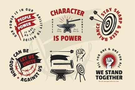 Movement & Motivation Quotes Badge