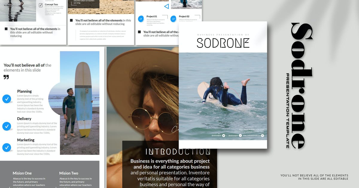 Download Sodrone - A4 Powerpoint Template by Artmonk