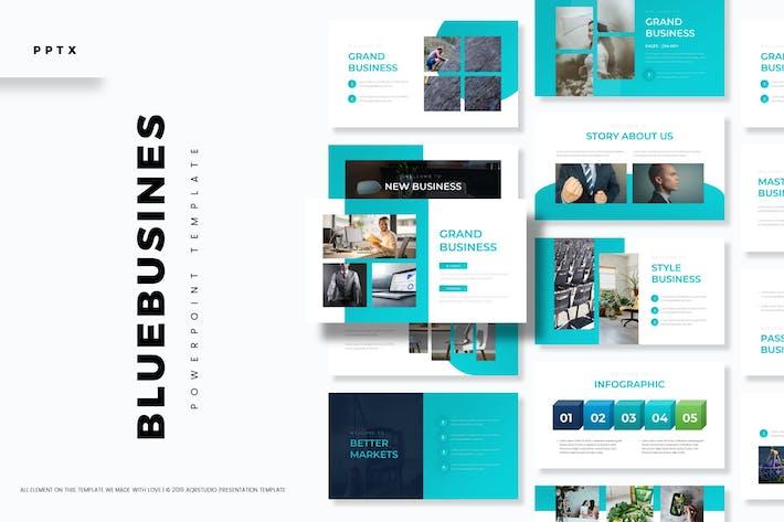 Thumbnail for Синий бизнес - Шаблон Powerpoint