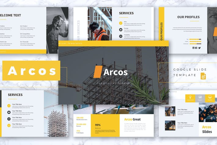 Thumbnail for ARCOS - Construction Google Slides Template