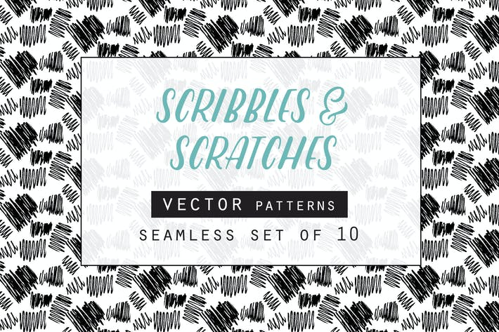 Thumbnail for Scribbles & Scratches Seamless Vector Patterns