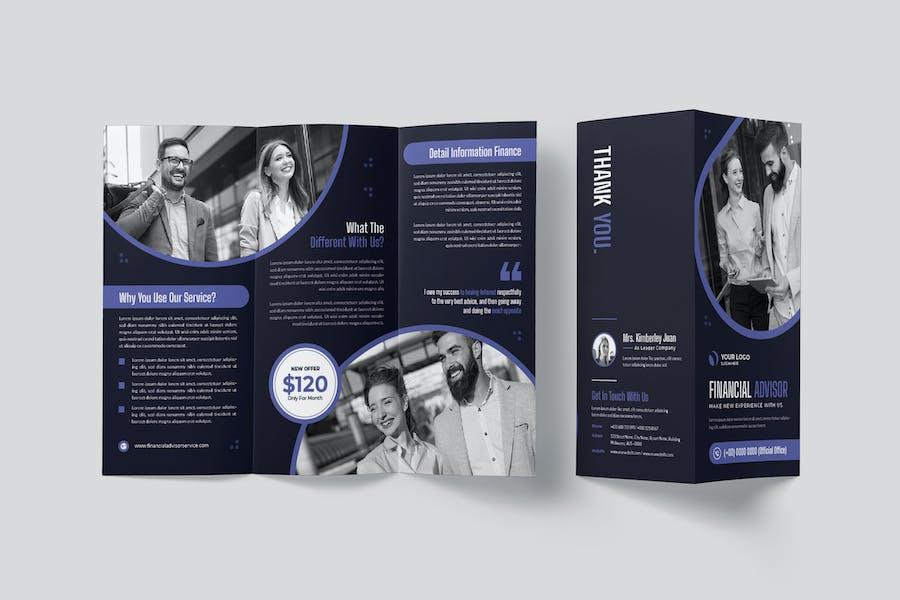 Financial Advisor Service Trifold Brochure