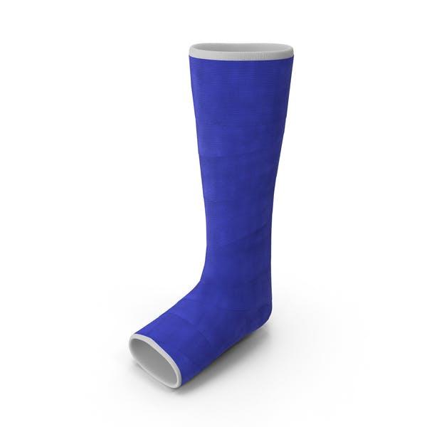 Синий стекловолокна нога литой