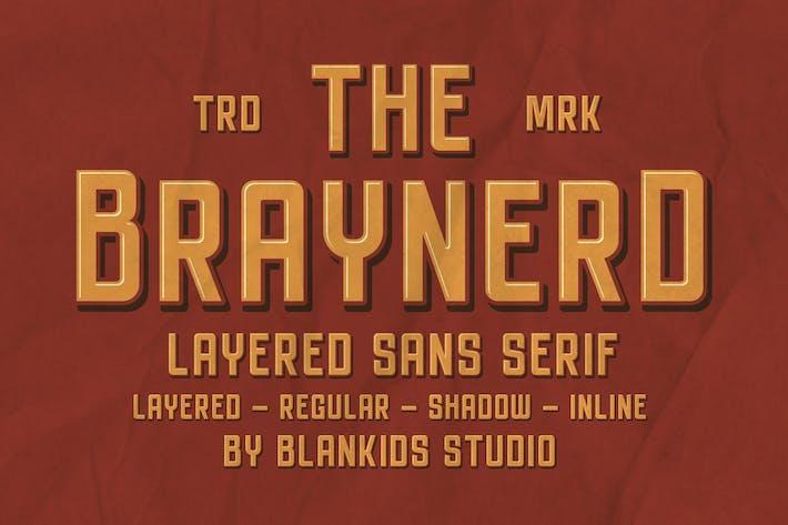 Thumbnail for Braynerd - Sans Con serifa en capas