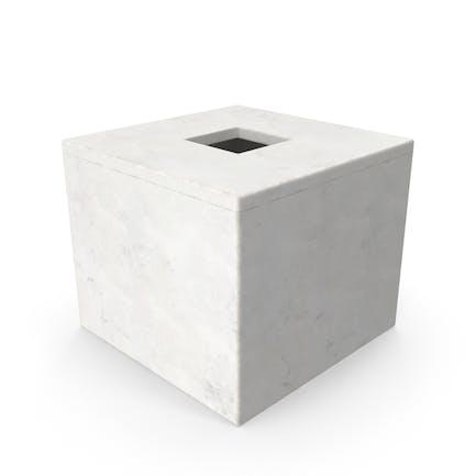 Caja Moderno para pañuelos de baño.