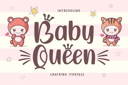 Baby Queen - Handcraft Display Font