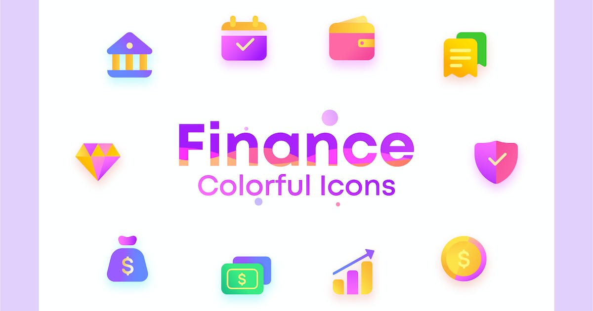 Download Colorful Invest, Finance, bank, Illustration Icons by NEWFLIX