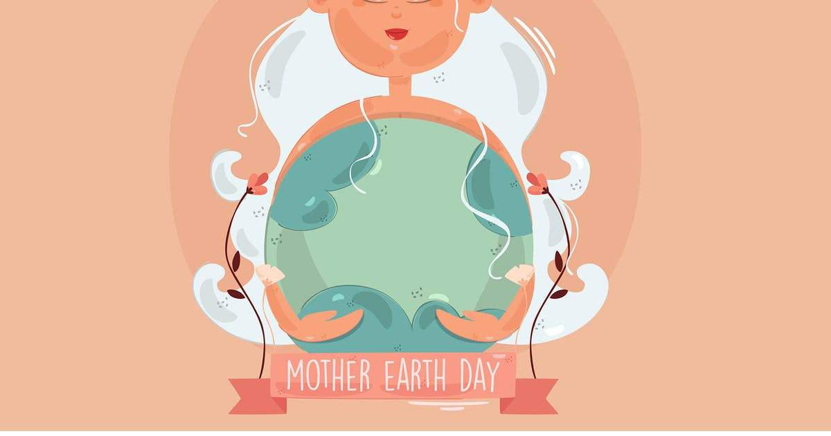 Download Mother Earth Day Hand Drawn Illustration by april_arts