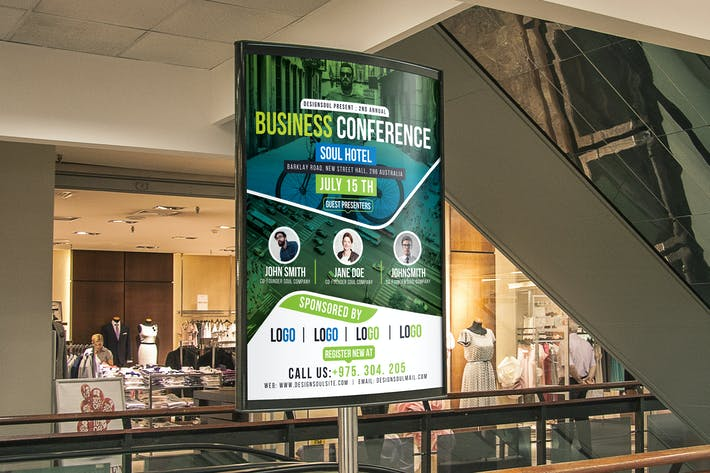 Thumbnail for Business Conference Poster Template