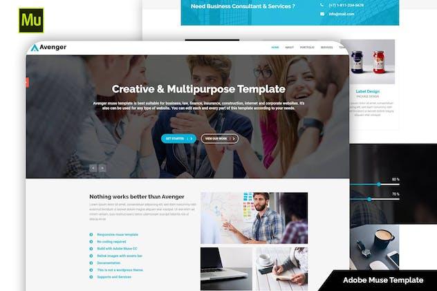 Avenger - Responsive Corporate & Multipurpose