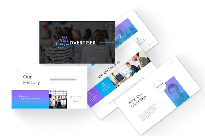 Cover Image For Advertiser - Powerpoint Template