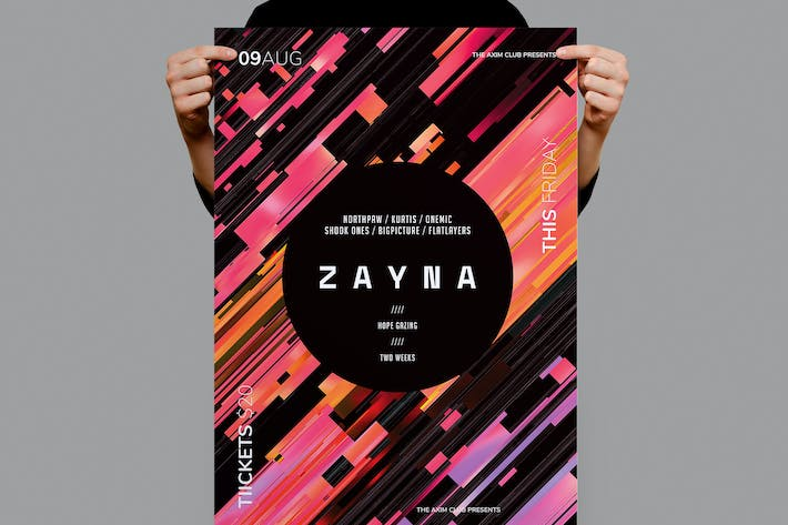 Thumbnail for Zayna Flyer / Poster Template