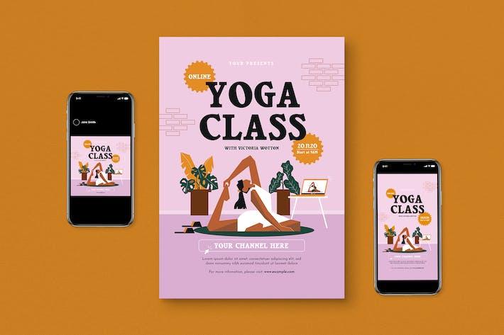 Online Yoga Class Flyer