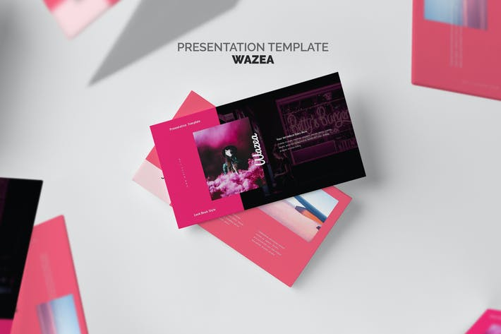 Thumbnail for Wazea : Pink Gradient Color Tone Keynote