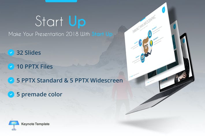 Cover Image For Start Up Keynote Template