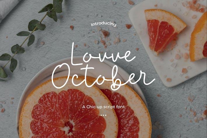 Thumbnail for Love October - Handwritten Font