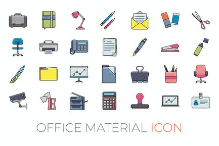 Büromaterial-Symbol