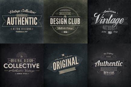 Retro Typographic Insignia and Badges Vol1