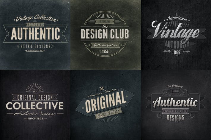 Thumbnail for Retro Typographic Insignia and Badges Vol1