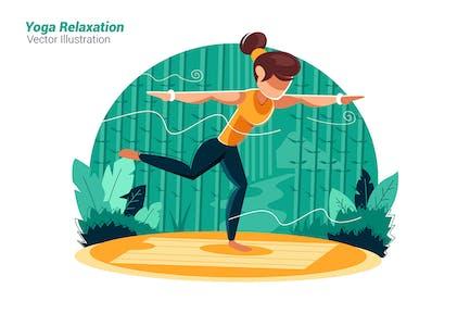 Yoga Relaxation - Vector Illustration