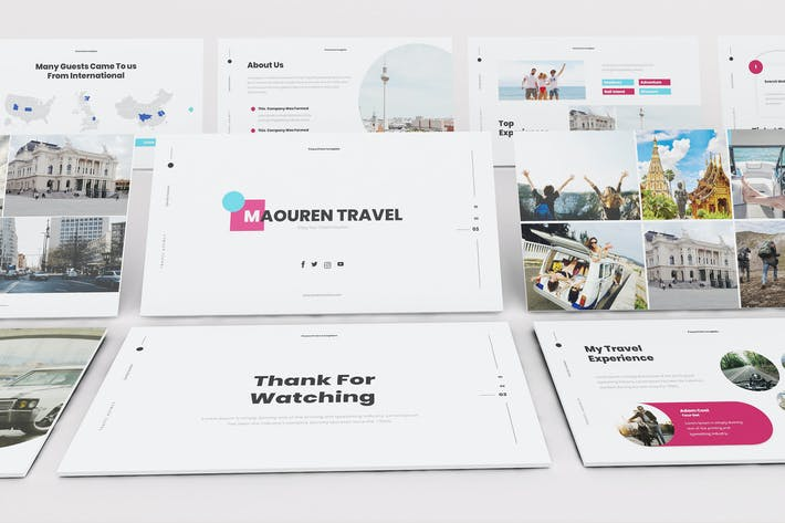 Thumbnail for Travel Google Slides Presentation Template