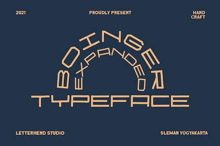 Boinger - Expanded Typeface